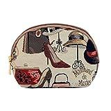 Cosmetic Bag / Makeup Bag Canvas London Boutique Motif