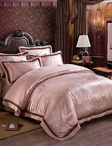 ZHUAN GAOHAIFQ®, vierteilige Anzug, Betten Luxuxseide Baumwollmischung Bettbezug setzt Königin King-Size-Bettwäsche-Set, Queen -
