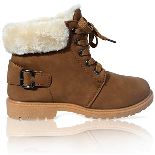 GIRLS KIDS CHILDRENS FAUX FUR GRIP SOLE WINTER WARM ANKLE SNOW BOOTS SHOES