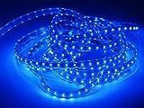 Wasserdicht 230V IP65 SMD 2835 LED Streifen LED-Strip LED Band Streifen LED Strip-Licht Superhell (60 LEDs/Meter) (10m mit 600leds) [Energieklasse A+] (blau)