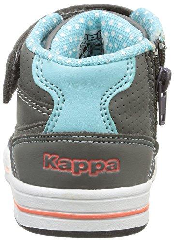Kappa Alphor Md, Baby Mädchen Lauflernschuhe Grau (952/dk Grey/aqua Blue)