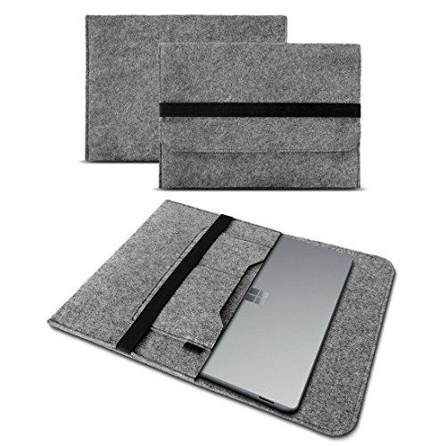 Microsoft covering Laptop 13,5 Sleeve Cover Hülle Tasche Notebook Filz event Schutzhülle, Farben:Hell Grau DE