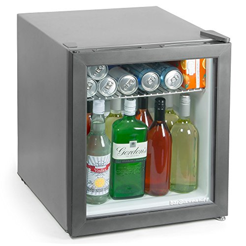 Frostbite Mini Fridge Silver – 49ltr Compact Refrigerator Holds 45 x 330ml Cans| A+ Energy Rating