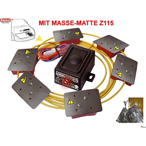 martas de Juego de coche KEMO M176impermeable (IP65*) + Z115martas martas–12–15V/DC + masa de Matte (+ Tornillos +
