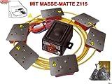 Marder-Set-KFZ KEMO M176 wasserdicht (IP65*) + Z115 Marderabwehr Marderschutz 12-15 V/DC + Masse-Matte (+ Schrauben+Kabelbinder)