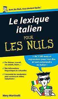 Le lexique italien Pour les Nuls par [MARTINELLI, Mery]