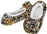 Snoozies Hausschuhe Modern Ballerina Print Damen UK 3/45/66/7, - Gepard - Größe: M
