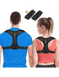 WAITIEE Haltungstrainer, Einstellbare Haltungskorrektur Rückentrainer Schulter Rückenstütze,Starker Aber Komfortabeler Rückenstabilisator,Rücken Sitzhaltung Korrektor für Damen und Herren