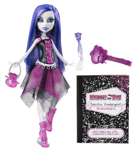 Mattel V7962 - Monster High Spectra Vondergeist, Tochter der Geister, Puppe (Vondergeist Spectra Puppe)