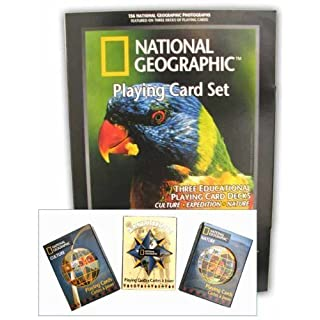 National Geographic? Collectibles Poker Playing Cards 3 Deck set by American Science & Surplus