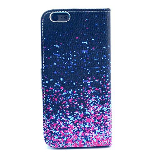 """MOONCASE iPhone 6 Case Motif Conception Coque en Cuir Portefeuille Housse de Protection Étui à rabat Case pour iPhone 6 (4.7"""") P41"""
