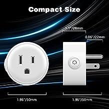 Smart Plug, Wi-Fi enabled mini prese Smart uscite Hub non necessaria per la funzione di controllo i tuoi dispositivi elettrici da qualsiasi posto compatibile con Google e ALEXA assistente 2-pack