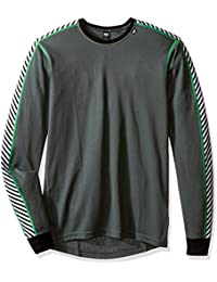 Helly Hansen Hh Dry Stripe Crew - Camiseta interior manga larga para hombre, color gris, talla L