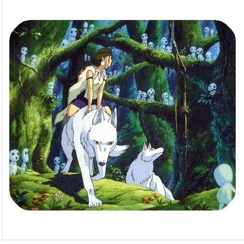 Preisvergleich Produktbild Hayao Miyazaki Princess Mononoke San Ashitaka Mouse Pad Anime mousepad Mouse Mat (16)
