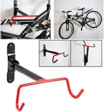 LUKZER Bike Cycle Storage Rack Mount Hanger/Hook Garage Wall Bicycle Hook Holder Racks Orange Black/Garage Wall Bicycle Hook Rack Holder Red Black Cycling Bicycle Rack Storage Rack