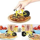 Roulette à pizza - Roues de vélo Roulette à pizza, cuisine et salle à manger Roues en acier inoxydable Cutter Outil par weinas
