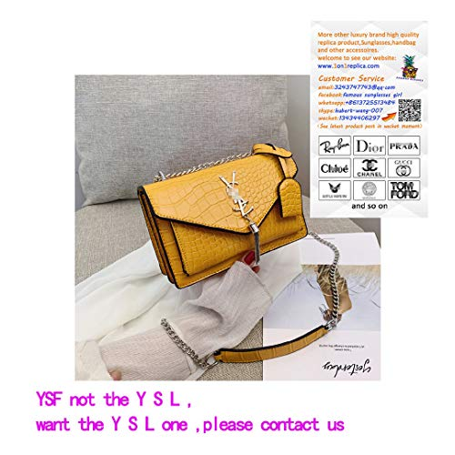 Fashion Crocodile Snake Pattern Leather Wedding Crossbody Tote Phone Shoulder Bag Cultches for Women - Yellow Serpentine -