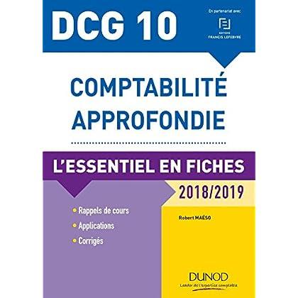 DCG 10 - Comptabilité approfondie - 2018/2019 - L'essentiel en fiches