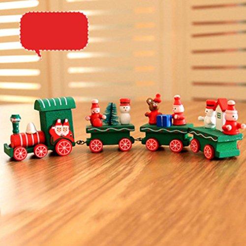 ohe Weihnachten Dekorationen Weihnachten Woods Kleine Zug Kinder Geschenk Kindergarten Festliche Xmas Decor (Multicolor A / B / C) (A) (Der Alptraum Vor Weihnachten Dekorationen)