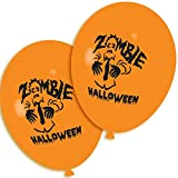 20 X Halloween Luftballons Zombie Orange