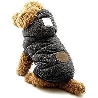 Selmai, stillvoler Kapuzen-Hundemantel, Bekleidung für kleine Hunde (dieser Still ist klein geschnitten, wählen Sie bitte eine Größe größer)