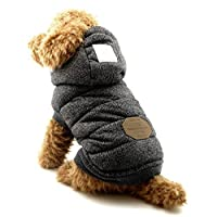 SELMAI Abrigos con Capucha para Perros Pequeños Chaquetas para Perro Mediano Ropa para Gatos Sphynx Grande Mascotas Perritos Chihuahua Caminar Jugar al Aire Libre Prueba de Clima Frío Black S