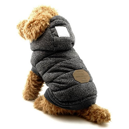 Selmai, Hundemantel mit Kapuze, elegante Hundebekleidung für kleine Welpen (Plaid-luxus-kleid-shirt)