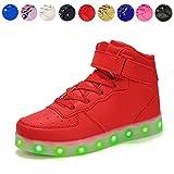 Voovix Kinder Litch Schuhe Blinkende Sneaker Led Leuchtende High-top USB...