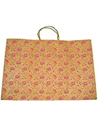 Hand Made Paper Bags Mustard