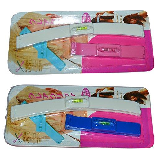 Barrette de coiffure avec niveau intégré pour couper vous-même vos cheveux, idéal pour faire de belles franges