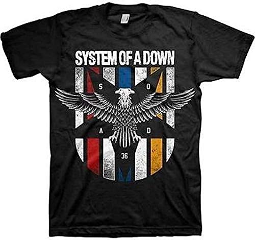 System of A Down - Eagle Colours - Camiseta Oficial Hombre - Negro, XX-Large