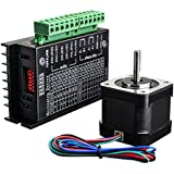 Quimat Nema 17 Imprimante 3D Moteur Stepper 1.7A 24V 40mm 40Ncm (56.2oz.in) + TB6600 Pilote moteur Stepper 32 Segments 4A 40V 57/86, Stepper Motor