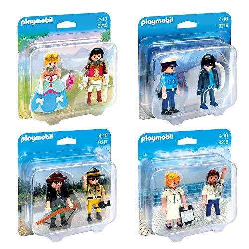 playmobilr-duo-pack-set-en-4-parties-9215-9216-9217-9218-principe-e-principessa-comandante-e-hostess