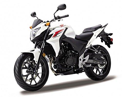 DieCast Modell Motorrad HONDA CB 500 F schwarz weiss metall Welly Motorradmodell 1:18