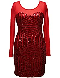 Battercake Mujer Vestido Coctel Cortas Transparentes Gasa Splice Vestido De Casuales Mujeres Cuello Redondo Slim Fit
