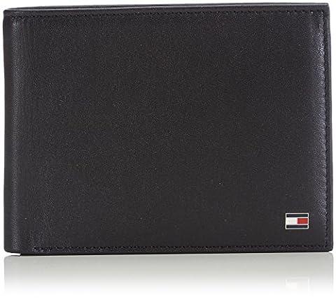Tommy Hilfiger ETON CC AND COIN POCKET AM0AM00651 Herren Geldbörsen 14x10x2 cm (B x H x T), Schwarz (BLACK 002)