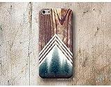 Wald Chevron Holz Print Hülle Handyhülle für iPhone X XR XS MAX 4 4s 5 5se se 5C 5S 6 6s 7 Plus iPhone 8 Plus iPod 5 6