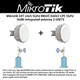 Mikrotik SXT Lite5 RBSXT-5nDr2 Outdoor Wireless Device 5Ghz CPE 16dBi Integrated Antenna 2-Units