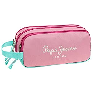 Pepe Jeans Bicolor Neceser de Viaje, 1.98 litros, Color Rosa