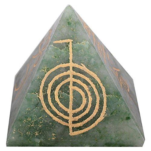 Simboli Aventurine verde pietra piramide Reiki Energy Generator cristallo Feng Shui