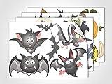 GRAZDesign 411012_4 Fenstersticker Halloween | Fensterbild für Dein Kinderzimmer | Glasdekor für Fenster (DIN A4 (4Stück))