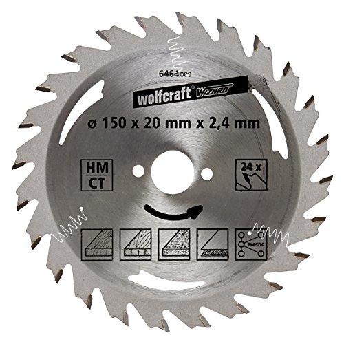 Wolfcraft 6464000 HM-Kreissägeblatt, 24 Zähne Ø 150 x 20 x 2,4