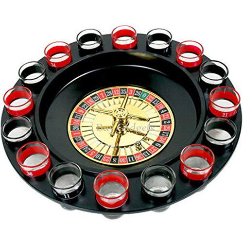 Gorei Trinkspiel Schnapsglas Roulette Komplettset Trinkspielset Trinkspiel im Casino-Stil 16tlg