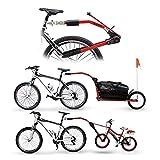 Peruzzo Trail Angel, Barra Traino Biciclette Unisex – Adulto, Rosso, 30 x 30 x 30 cm