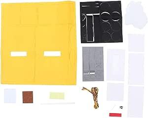 Taschentuchspender f/ür Zuhause Rokauy Taschentuchbox gehobenes Auto Taschentuchbox perforiert Serviettenhalter wandmontiert Grau aus Filz einfache Farbe B/üro