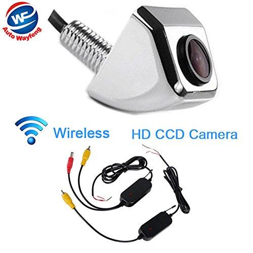 Auto Wayfeng WF® Wireless Drahtlose Auto Vorderansicht Kamera CCD 170 Grad Winkel Backup Parkplatz Kamera, Chrom -