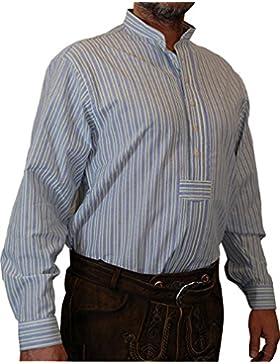 OS Hemd Wolfi IV im Streifendesign mit Bauchriegel und Stehkragen bis 6XL