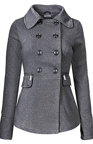 bodilove-womens-double-breasted-short-collared-peacoat-charcoal-m-jf2219-charcoal-outerwear