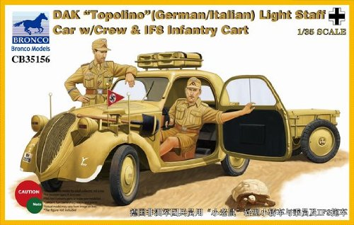 bronco-models-cb35156-maqueta-de-dak-topolino-german-de-italian-light-staff-car-crew-y-if8-intantry-