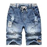 YoungSoul Jungen Shorts Bermuda Jeansshorts Kinder Sommer Cargo Kurze Hose 170-176 Stonewash Denim